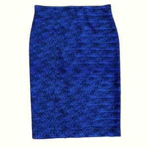 Vince Camuto Blue and Black Skirt size S